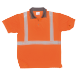 Polo de travail HV EN 471 Orange Fluo