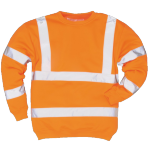 Sweat-shirt Haute Visibilité SWEATIZ Orange Fluo