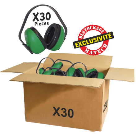 Casque anti-bruit ECO En destockage SNR 27dB EN 352-1 Lot de 30 pièces