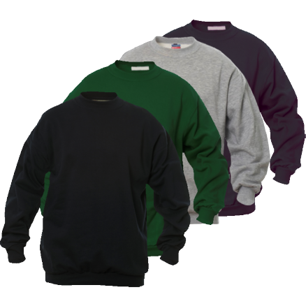 Sweat-shirt SET-IN col rond Coton/Polyester